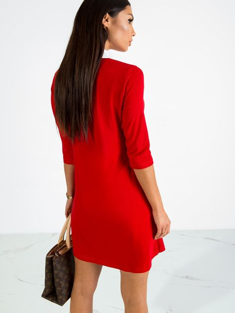 Czerwona sukienka Poppy                              zdj.                              2