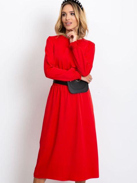 Czerwona sukienka Saffire                              zdj.                              5