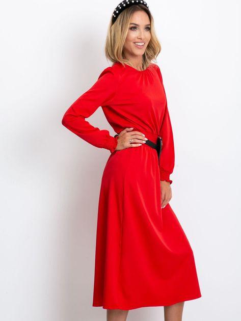 Czerwona sukienka Saffire                              zdj.                              3