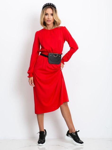 Czerwona sukienka Saffire                              zdj.                              4