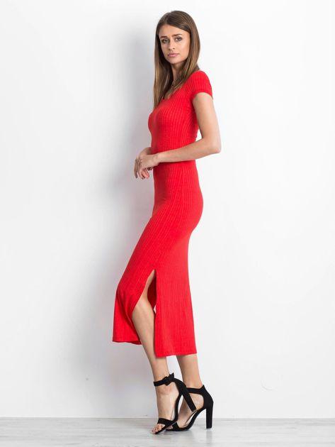 Czerwona sukienka Touching                              zdj.                              3