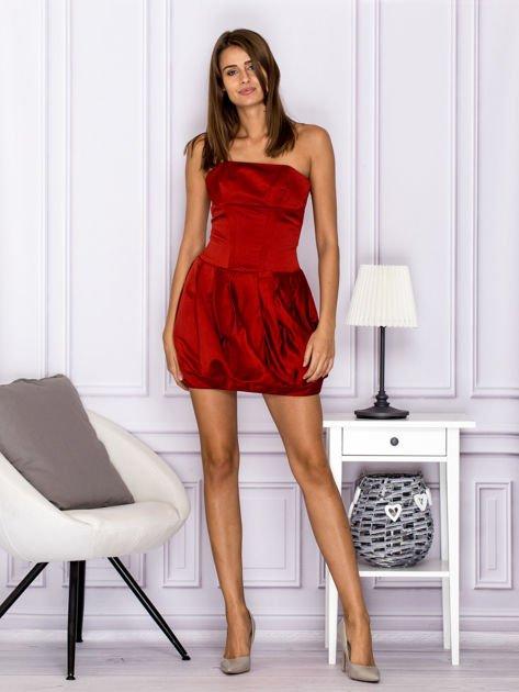 Czerwona sukienka bombka                                  zdj.                                  4