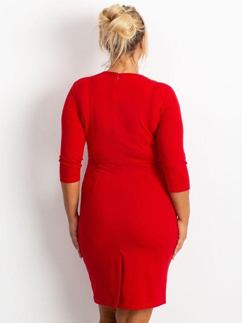 Czerwona sukienka plus size Miranda                              zdj.                              2