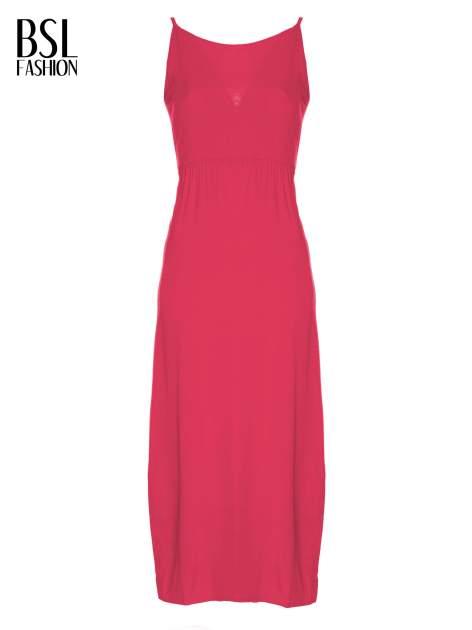 Czerwona sukienka w stylu greckim                                  zdj.                                  2