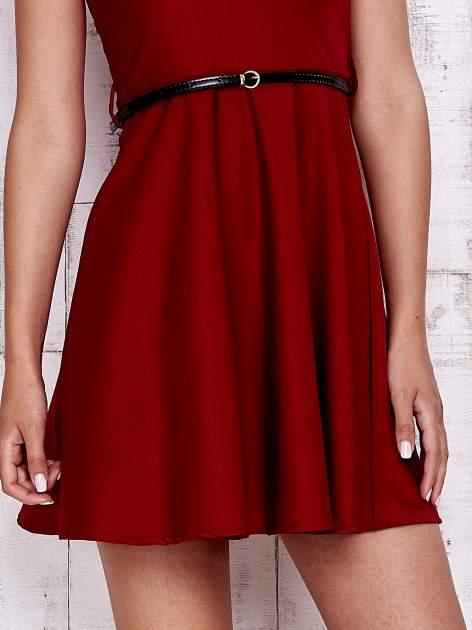 Czerwona sukienka z suwakiem na plecach                                  zdj.                                  5