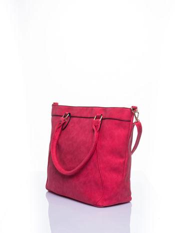 Czerwona torba city bag na ramię                                  zdj.                                  3