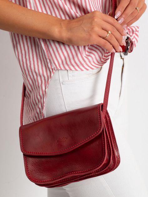 Czerwona torebka damska ze skóry                              zdj.                              2