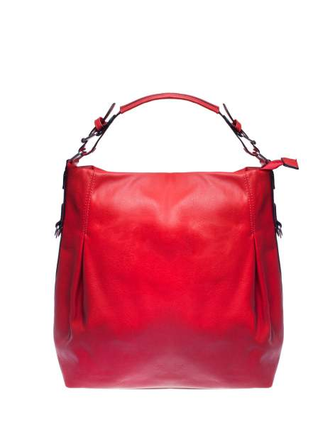 Czerwona torebka hobo na ramię                                  zdj.                                  1