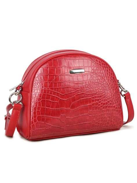 Czerwona torebka z motywem zwierzęcym LUIGISANTO
