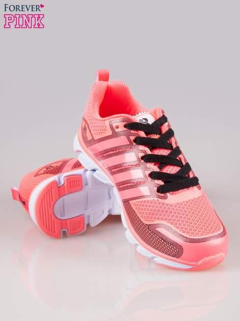 Czerwone buty sportowe textile Lovegame z elastyczną podeszwą                                  zdj.                                  4
