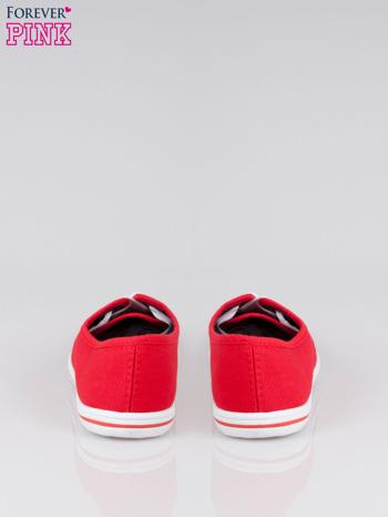Czerwone damskie tenisówki przed kostkę                                  zdj.                                  3