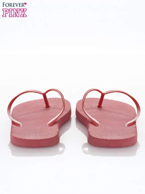 Czerwone gumowe japonki damskie                                  zdj.                                  3