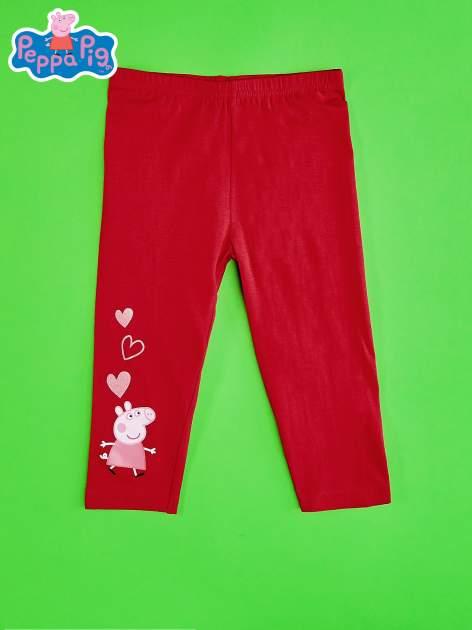 Czerwone legginsy dla dziewczynki ŚWINKA PEPPA                                  zdj.                                  1