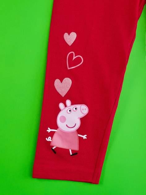 Czerwone legginsy dla dziewczynki ŚWINKA PEPPA                                  zdj.                                  3