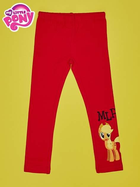 Czerwone legginsy dla dziewczynki motyw MY LITTLE PONY                                   zdj.                                  1