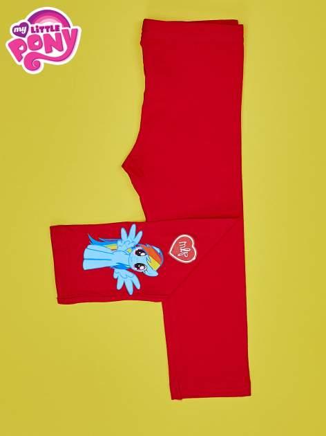 Czerwone legginsy dla dziewczynki z nadrukiem MY LITTLE PONY                                  zdj.                                  3
