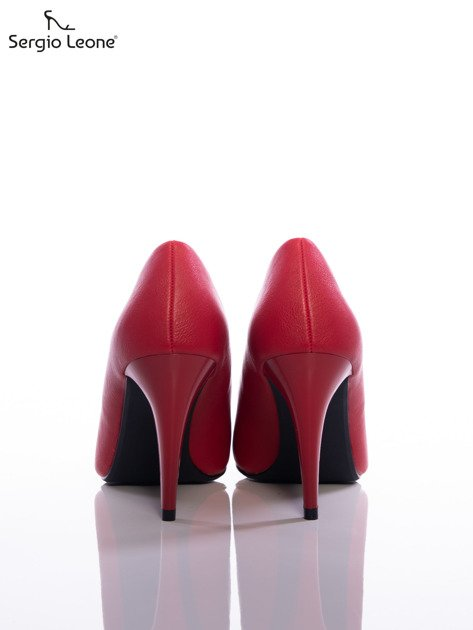 Czerwone matowe szpilki Sergio Leone                                   zdj.                                  3