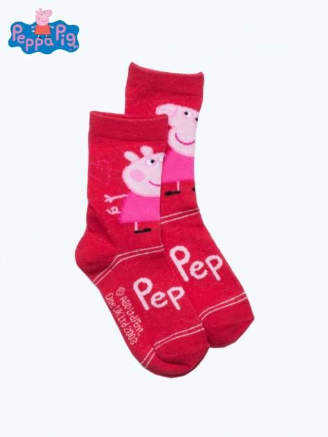 Czerwone skarpetki dla dziewczynki ŚWINKA PEPPA                                  zdj.                                  1