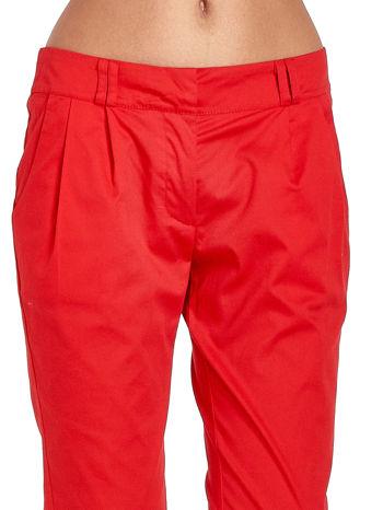 Czerwone spodnie cygaretki z zakładkami                                  zdj.                                  5