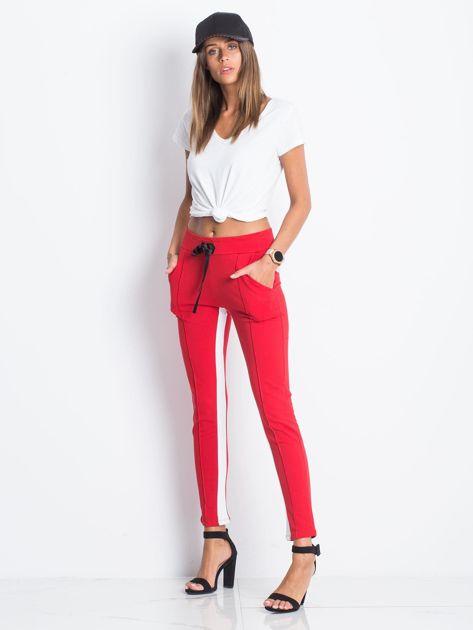 Czerwone spodnie dresowe Defined                              zdj.                              4
