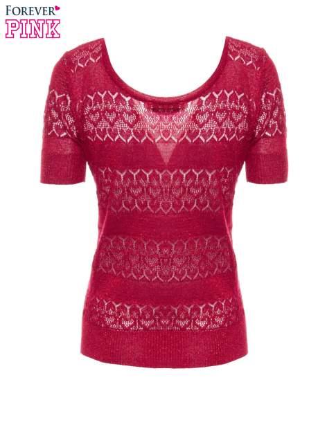 Czerwony ażurowy sweterek w stylu retro                                  zdj.                                  7