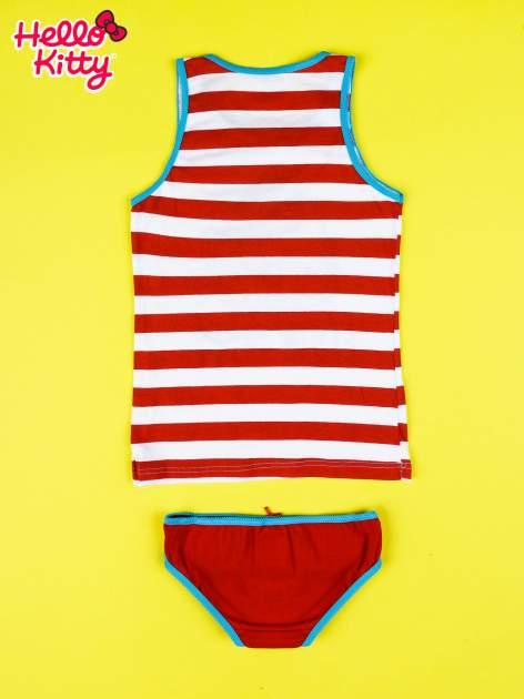 Czerwony komplet do spania dla dziewczynki z nadrukiem ELVIS HELLO KITTY                                  zdj.                                  2