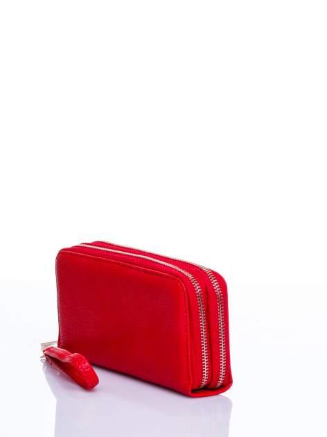 Czerwony matowy portfel z rączką                                  zdj.                                  2