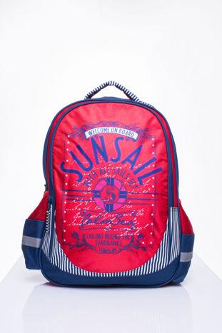 Czerwony plecak szkolny DISNEY z motywem żeglarskim                                  zdj.                                  1