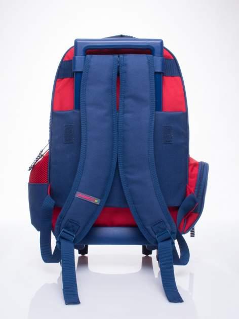 Czerwony plecak szkolny na kółkach walizka DISNEY z motywem żeglarskim                                  zdj.                                  3