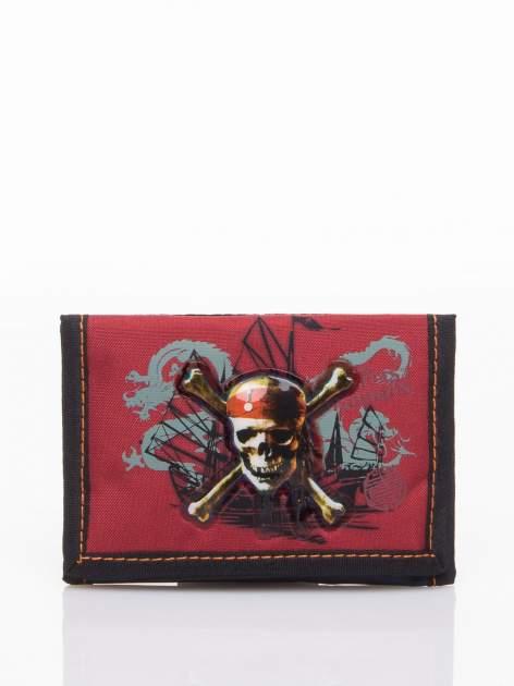 Czerwony portfel chłopięcy DISNEY Piraci z Karaibów