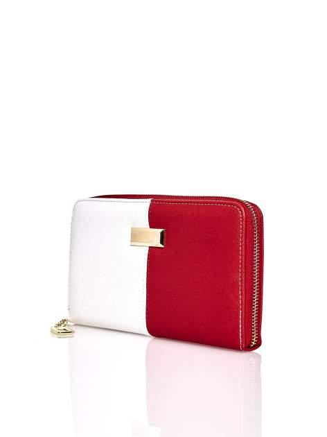 Czerwony portfel two tone z uchwytem                                  zdj.                                  3