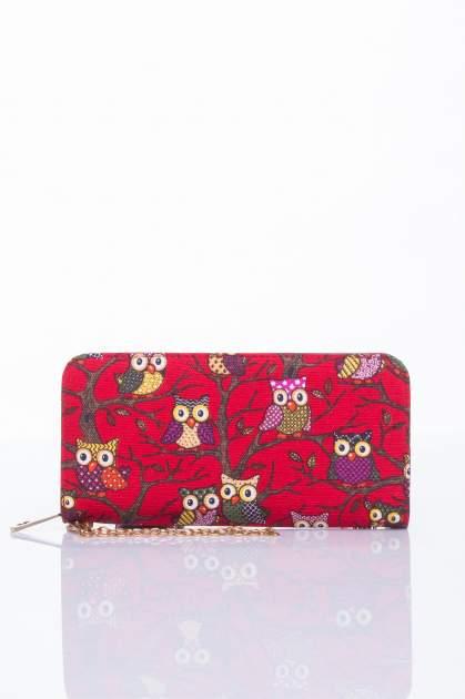 Czerwony portfel w sówki                                  zdj.                                  1