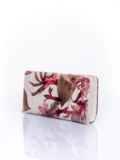 Czerwony portfel z egzotycznym nadrukiem                                  zdj.                                  3