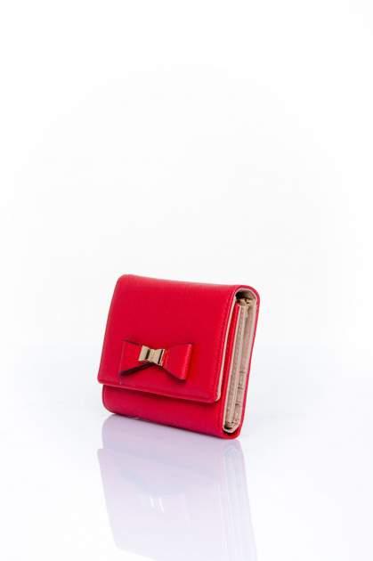 Czerwony portfel z kokardką                                  zdj.                                  3