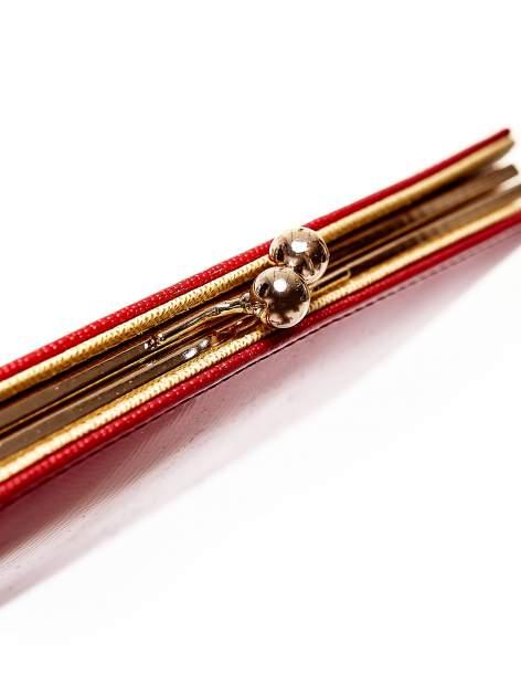Czerwony portfel z motywem skóry węża z biglem                                  zdj.                                  4