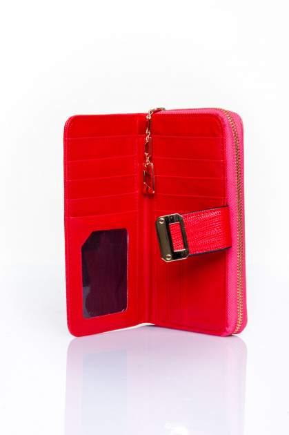 Czerwony portfel ze złotą klamerką                                  zdj.                                  4