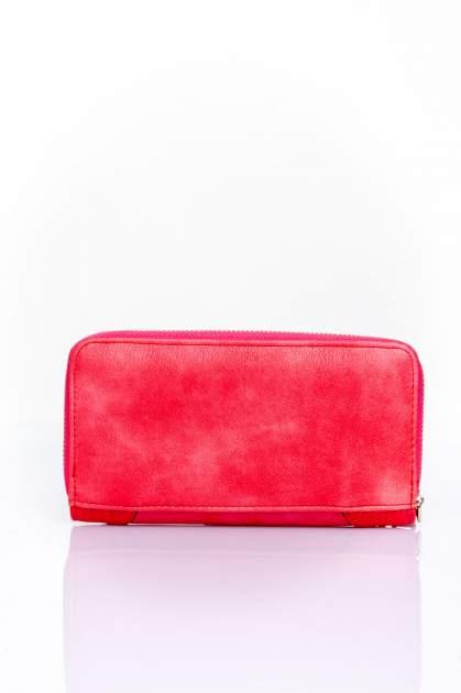 Czerwony portfel ze złotą klamerką                                  zdj.                                  2