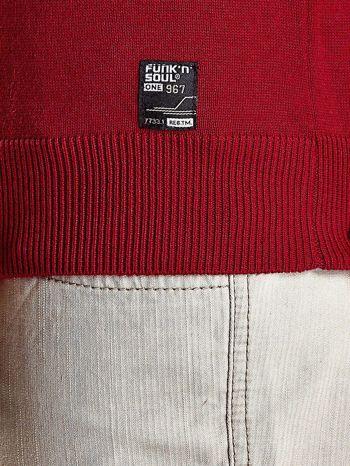 Czerwony sweter męski na guziki Funk n Soul                                   zdj.                                  8