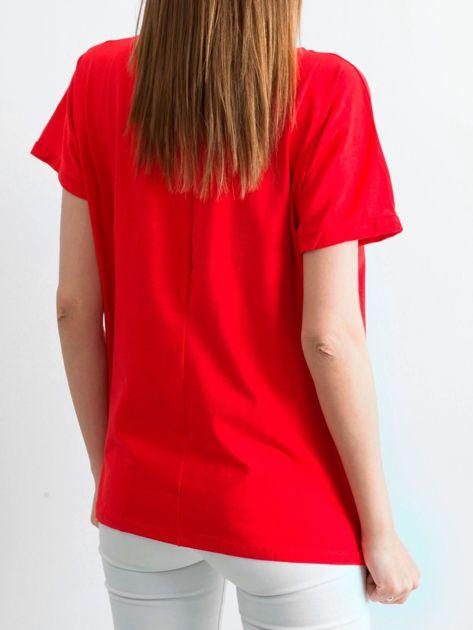 Czerwony t-shirt Ahead                              zdj.                              2