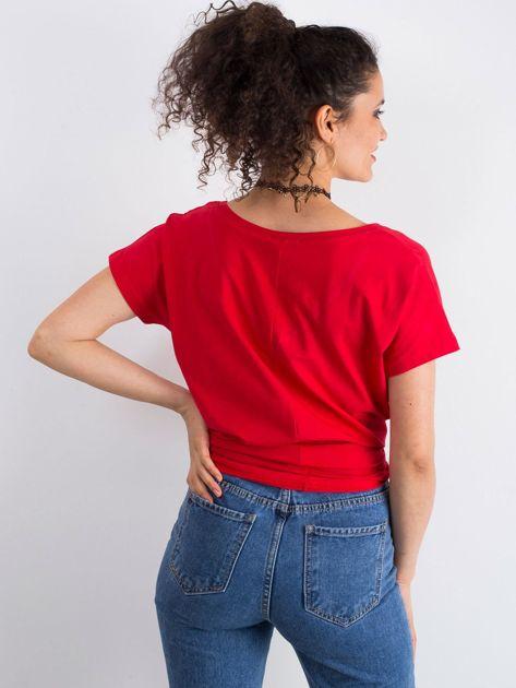 Czerwony t-shirt Emory                              zdj.                              2