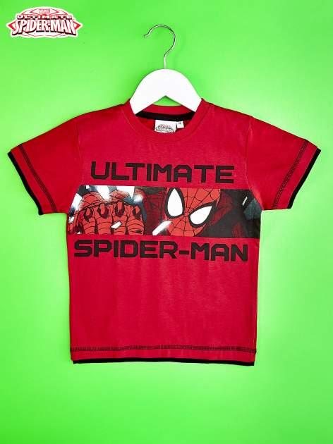 Czerwony t-shirt chłopięcy SPIDERMAN                                  zdj.                                  1