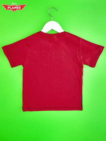 Czerwony t-shirt dziecięcy z nadrukiem SAMOLOTY                                  zdj.                                  2