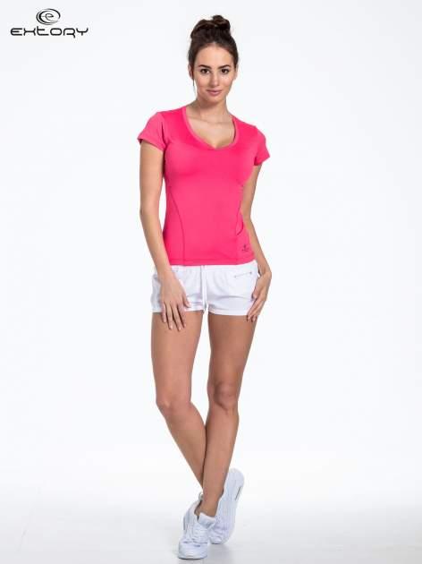Czerwony t-shirt sportowy basic                                  zdj.                                  3