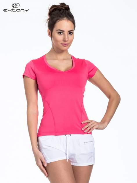 Czerwony t-shirt sportowy basic                                  zdj.                                  1