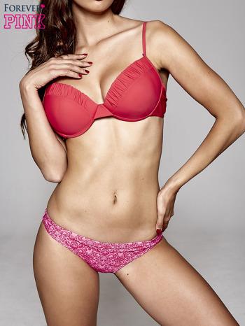 Czerwony usztywniany stanik od bikini wiązany na kokardę                                  zdj.                                  2