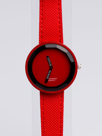 Czerwony zegarek damski na pasku                                  zdj.                                  2