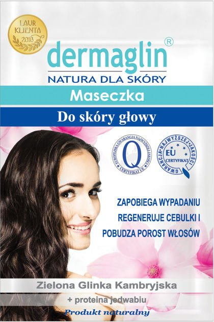 DERMAGLIN  Naturalna maseczka do skóry głowy zapobiegająca wypadaniu włosów 20 g                              zdj.                              1