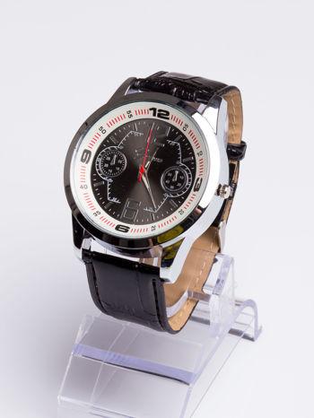 DLA NIEGO... Czarno-biały gustowny zegarek męski                                   zdj.                                  2