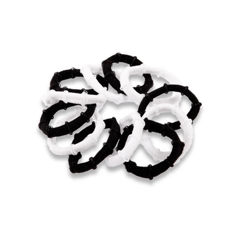 """DONEGAL GUMKA Cuff 4cm białe i czarne 1op-12szt  (FA-2489)"""""""
