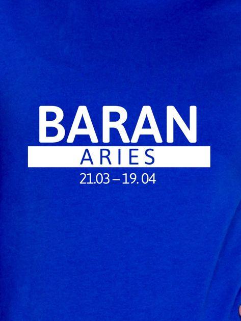 Damska bluza ze znakiem zodiaku BARAN kobaltowa                                  zdj.                                  2